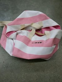pink and white striped tote bag 3490 km