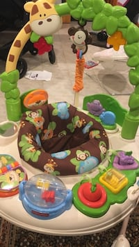 Baby jumper and games. Fisher-Price Go Wild Jumperoo Activity Center Norton, 02766