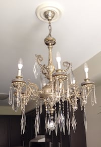 Platinum colored uplight chandelier Whitby, L1R 2C8