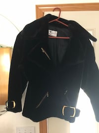 One of a kind designer made velvet coat with gold accents Savage, 55378