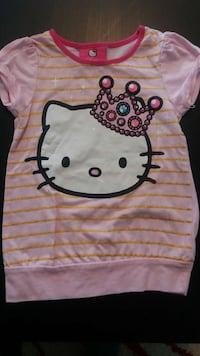 barns rosa Hello Kitty crew neck t-shirt 6519 km