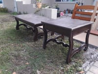 rectangular brown wooden table with four chairs dining set Palmetto, 34221