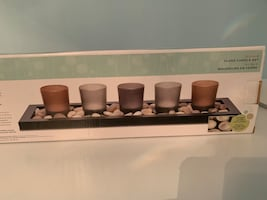 Glass candle spa set