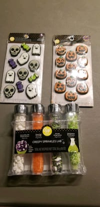Halloween Sprinkles and Icing decorations.  New Edmonton, T6M 2G7