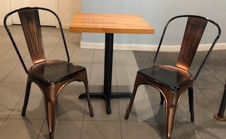 Restaurant table and 2 chairs set