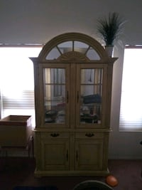 brown wooden framed glass display cabinet Las Vegas, 89123