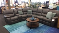 *Brand New* Grey Leather Reclining Sectional  Norfolk, 23502