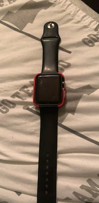 black Apple watch with black sports band Merced, 95348