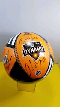 HOUSTON DYNAMO AUTOGRAPHS BALL SOCCER