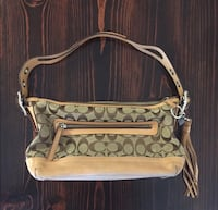 brown and black leather crossbody bag Henderson, 89002