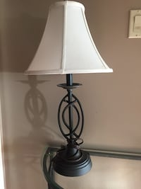 Black steel table lamp Victoria, V9A 1Z5