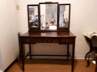 Antique Vanity Table with Mirror  Bowmanville, L1C 4V5