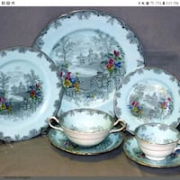 Gorgeous Aynsley Queens Garden China, 6 Settings of Seven Pieces Each  Mississauga, L5J 2E5
