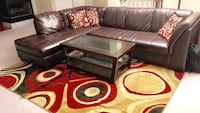 2 piece sectional and rug  Aldie, 20105
