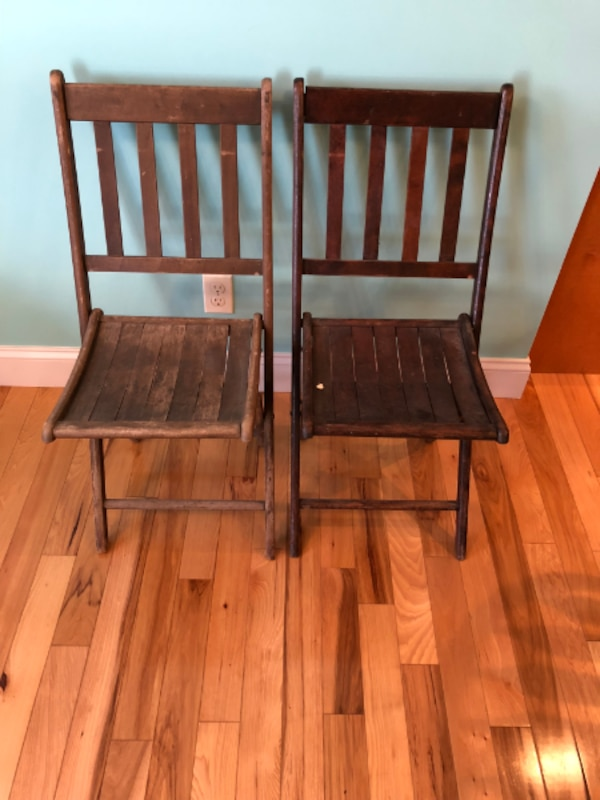 Antique wood folding chairs - Used Antique Wood Folding Chairs For Sale In Normal - Letgo