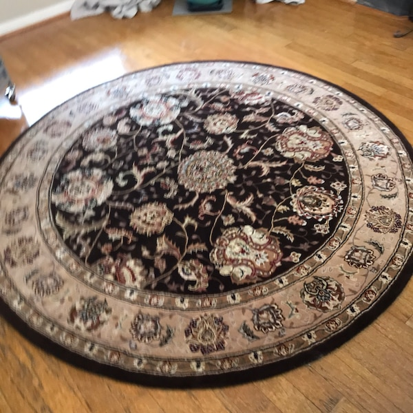 6 Round Rug Plus Matching Runner 8x3 Hand Tied Australia Wool New Purchased 2 Mos Ago Color Doesn T Match My Decor So Beautiful I Paid 1800