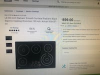 Brand new LG electric stove top / oven  Perry Hall, 21128