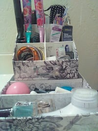 assorted cosmetic products