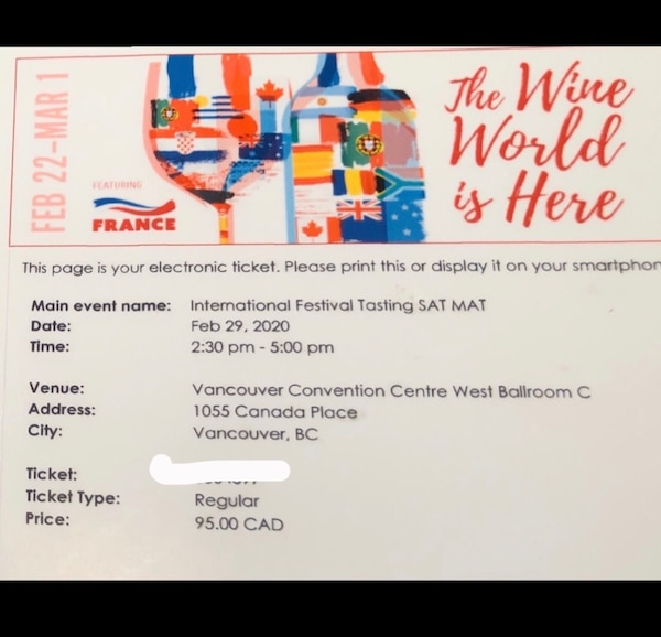 Vancouver Wine Festival (2 tickets) 71f823c5-2652-492d-95f8-1f0393a12899