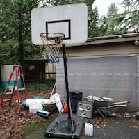 Basketball hoop assembly