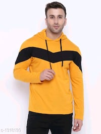 Trendy Cotton Hooded Men's T-Shirt Ghaziabad, 201001