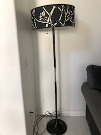 black and white floral floor lamp