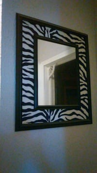 black and white zebra framed mirror Corpus Christi, 78404