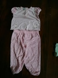 pink 2 piece pjs toddler