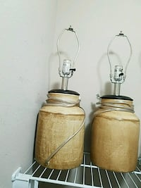 two brown  table lamps Winter Garden, 34787
