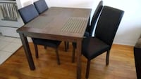 Kitchen table set, 4 chairs.  783 km