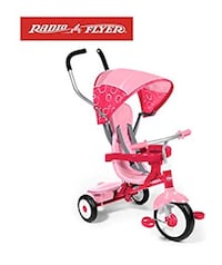 Tri Cycle for kids Radio Flyer 4-in-1 Stroll 'N Trike, Pink color Campbell, 95008