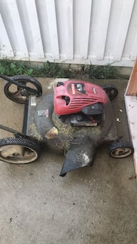 red and black push mower null