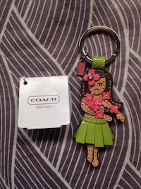 Authentic NEW WITH TAGS Coach Hawaiian Hula Key Chain Fob Accessory.