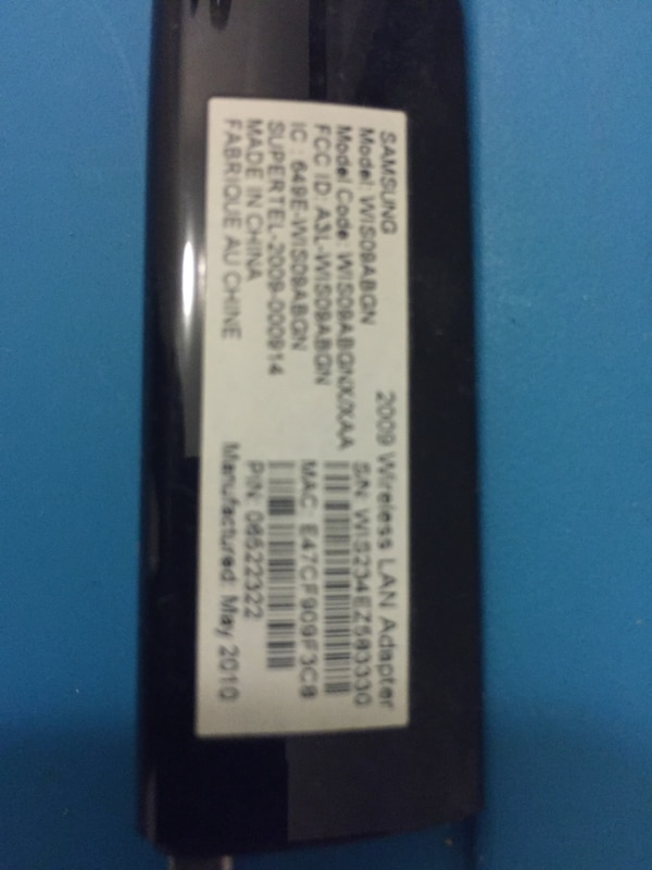 Samsung USB wireless adapter  62b9a825-c6f1-4f1b-a67e-de271849751d