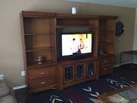 brown wooden TV hutch San Antonio, 78253