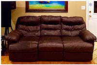 GENUINE TOP GRAIN LEATHER COUCH Westminster, 92683