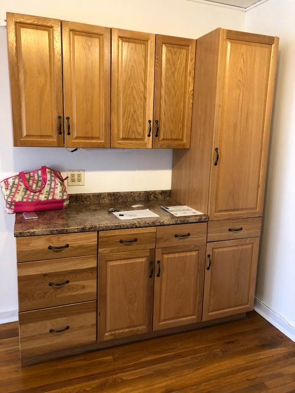 Used Two Kitchen Cabinet Sets One Fridge Gas Stove Dishwasher For