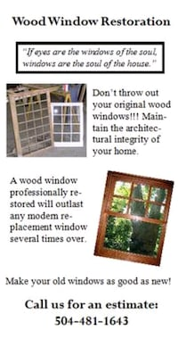 Window repair and restoration New Orleans