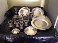 Pewter - Assorted collection.