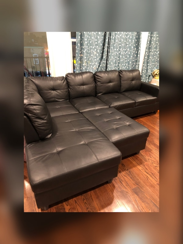 Marvelous Black Sectional With Ottoman From Wayfair Squirreltailoven Fun Painted Chair Ideas Images Squirreltailovenorg