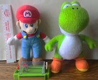 Two Mario Bros. Plushies with Race Toy