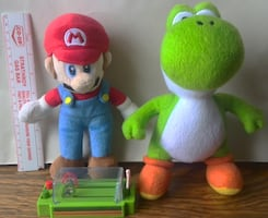 Mario + Yoshi Plush with Race Toy