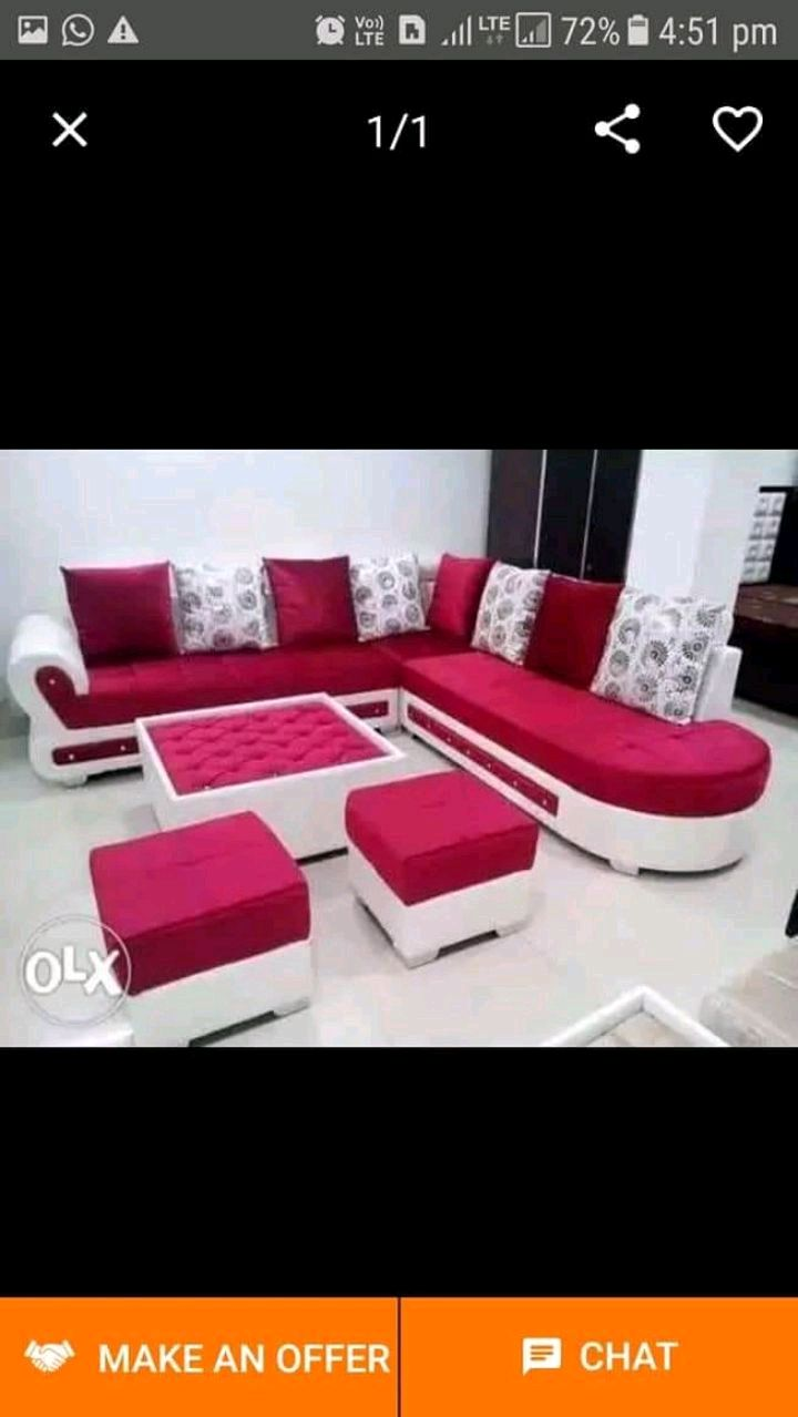 used blue and white sectional couch for sale in hyderabad letgo rh gb letgo com