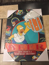 Simpson's Beer Canvas For Sale - Brand New!