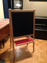 Folding easel chalk and wipe board