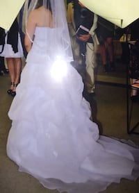 Gorgeous wedding gown - Princess style with flowing train