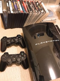 PS3 with two controller and 21 game Richmond, V6X 2A2