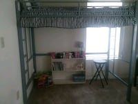 Silver and Black Metal Loft Bed Twin Gastonia, 28054