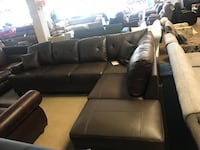 Chocolate Brown Bonded Leather Sectional  Phoenix, 85018