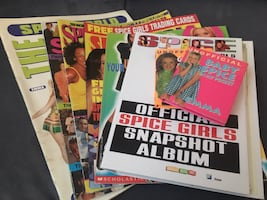 Spice Girls Sticker Book, Photo Album, Magazines, and Mini Books..